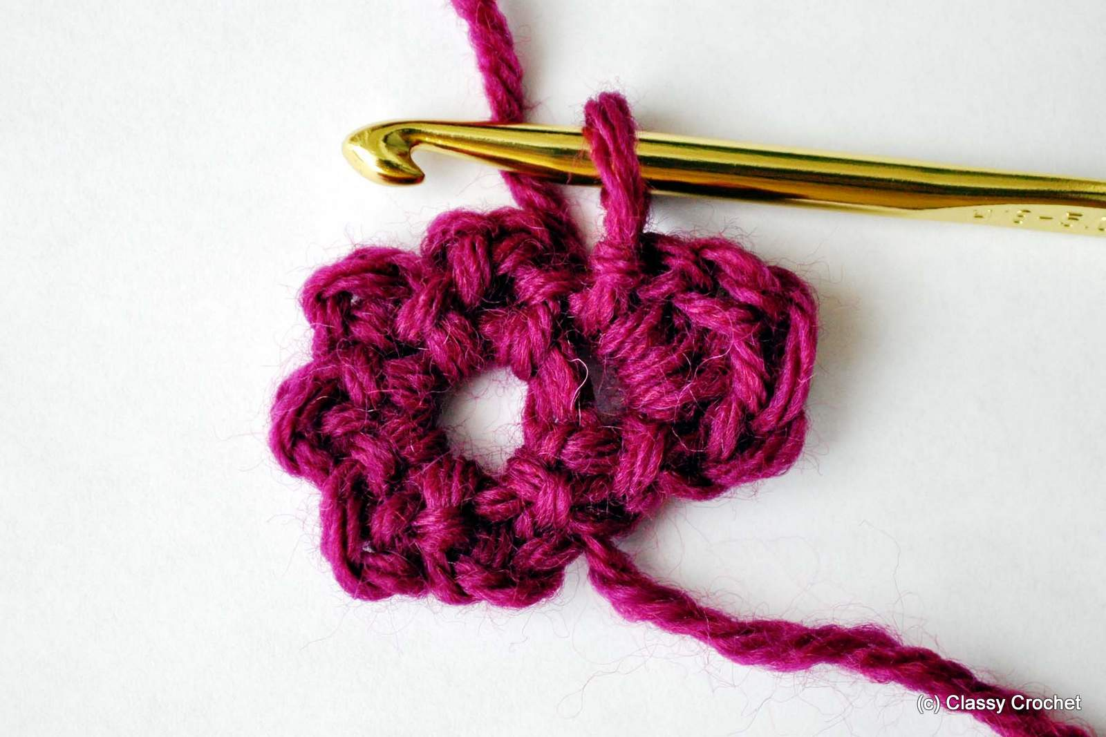 How To Basic Crochet Flower Classy Crochet,Mofongo Recipe El Boricua
