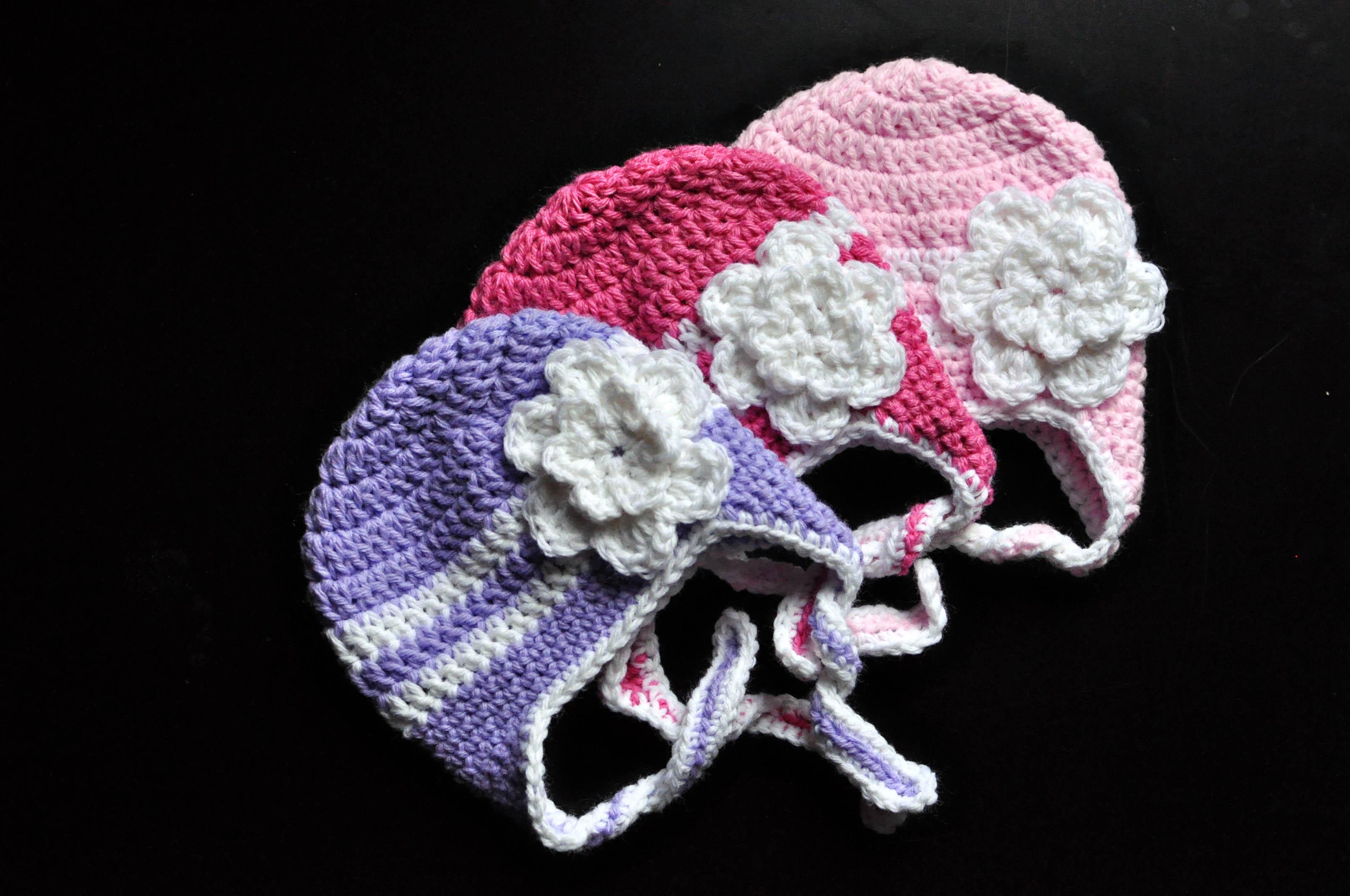 Free Crochet Pattern Newborn Earflap Hat : Free Crochet Pattern: Striped Earflap Hat Classy Crochet