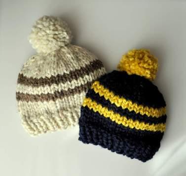 Pom Pom Knit Hat Pattern | Classy Crochet