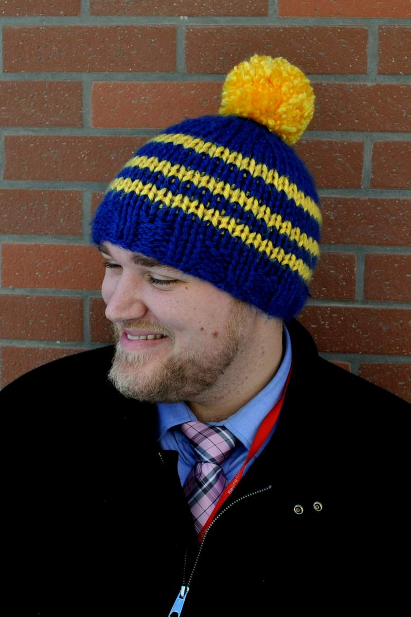 Knitting Pattern For Men s Stocking Cap : Shake your pom pom, shake your pom pom? Classy Crochet