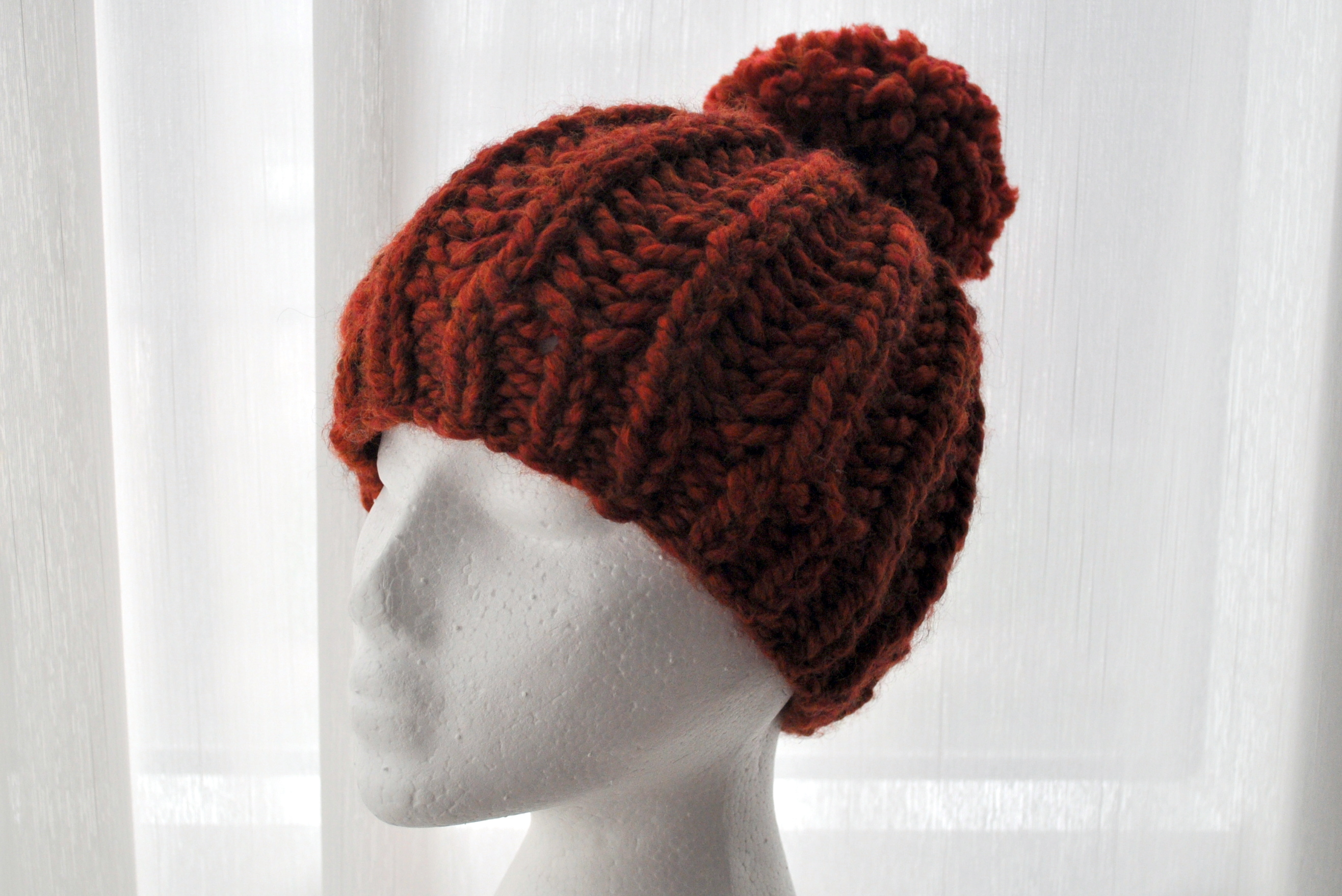 Free Pattern  Knit Fisherman Ribbed Hipster Hat  a276c94e03b