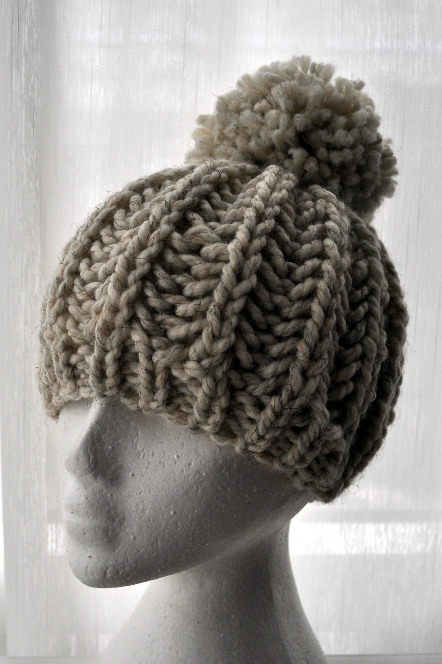 Free Pattern: Knit Fisherman Ribbed Hipster Hat Classy ...