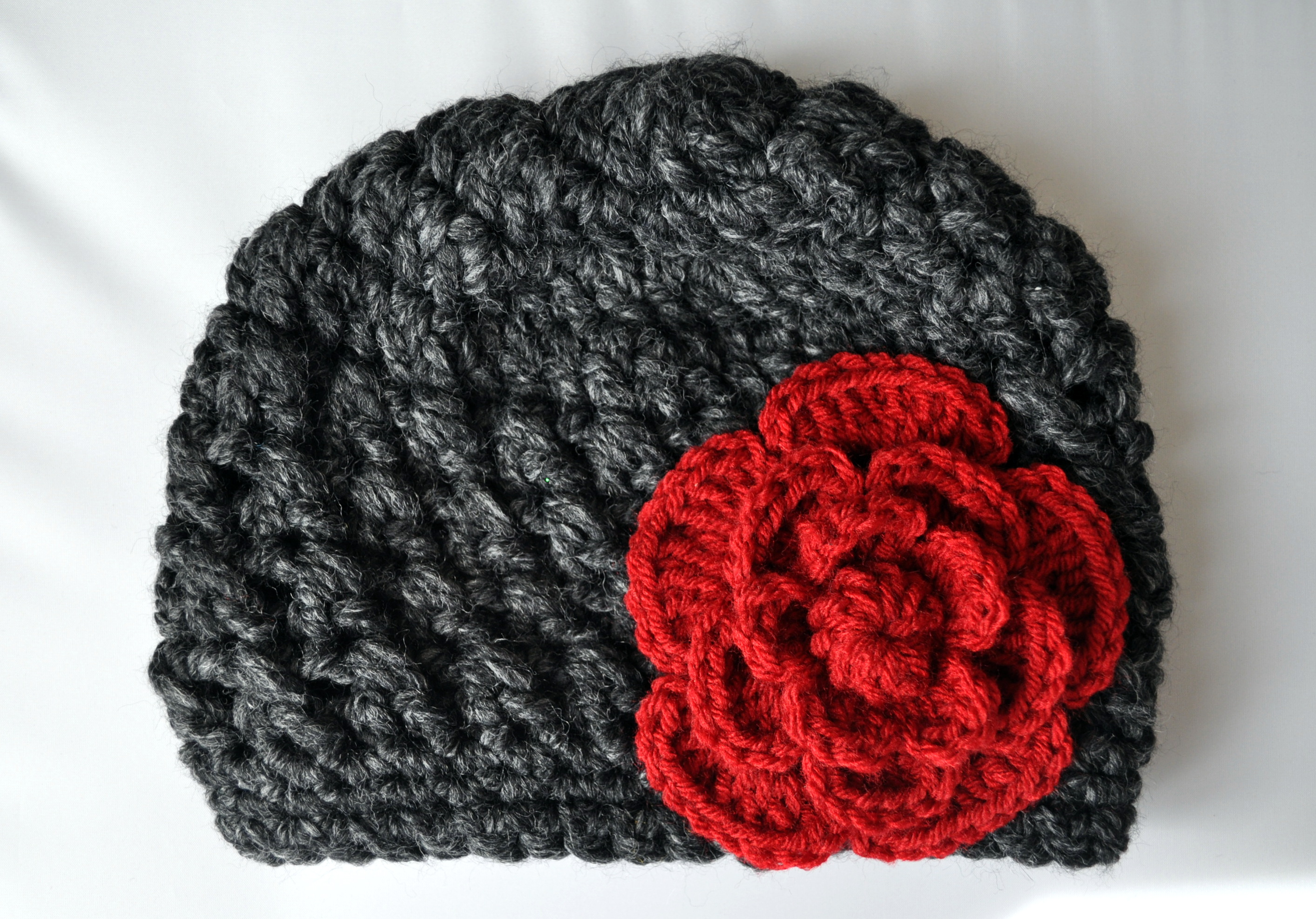 Free Crochet Pattern Chunky Baby Hat : Crochet Chunky Flowered Cloche Pattern Classy Crochet