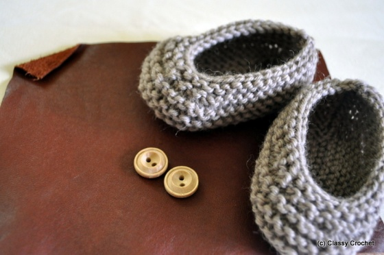 Knitting Project: Au Naturale Knit Baby Booties | Classy Crochet