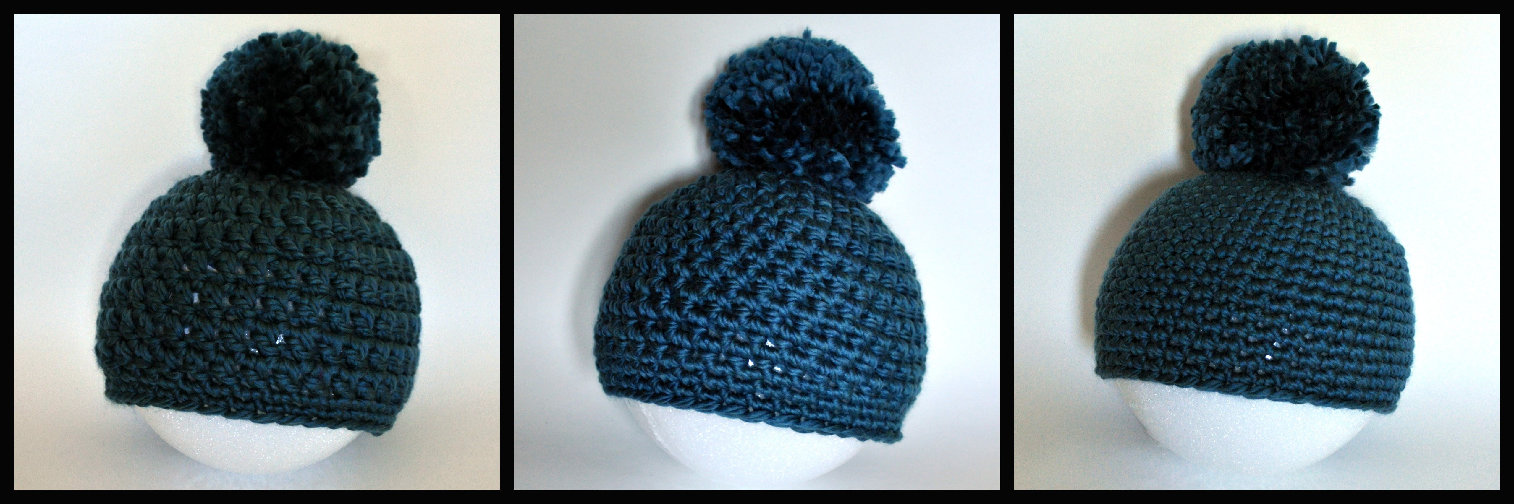 Chunky Crochet Pompom Hat Three Ways Classy Crochet