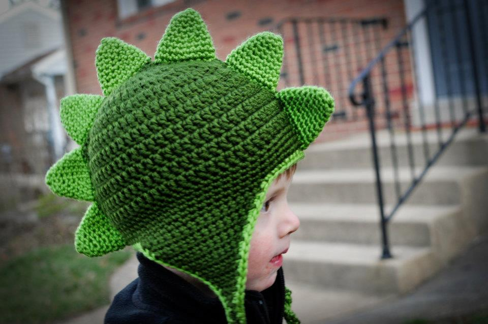 Free Crochet Pattern For Dinosaur Beanie : Crochet Dapper Dino Hat Pattern Classy Crochet