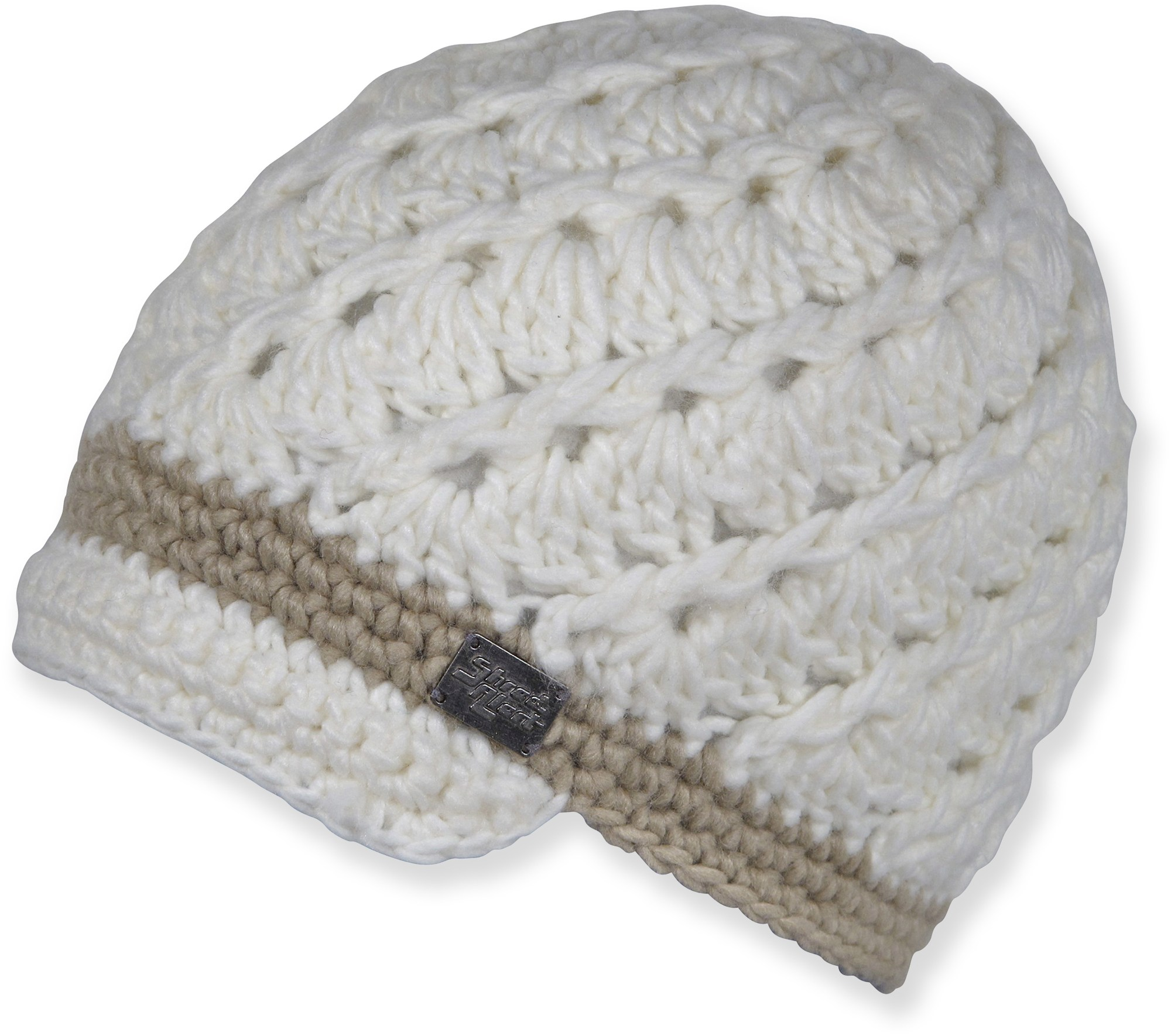 Free Crochet Pattern Beanie With Brim : Free Pattern: Crochet Women s Swirly Brimmed Hat Classy ...