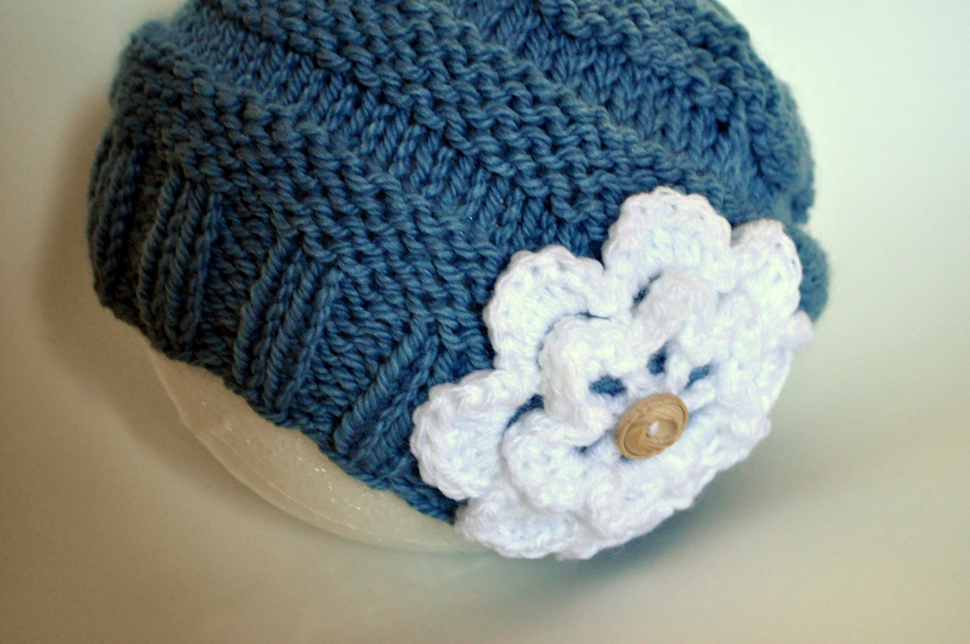 Free Pattern: Knit Slouch Flowered Hat Classy Crochet
