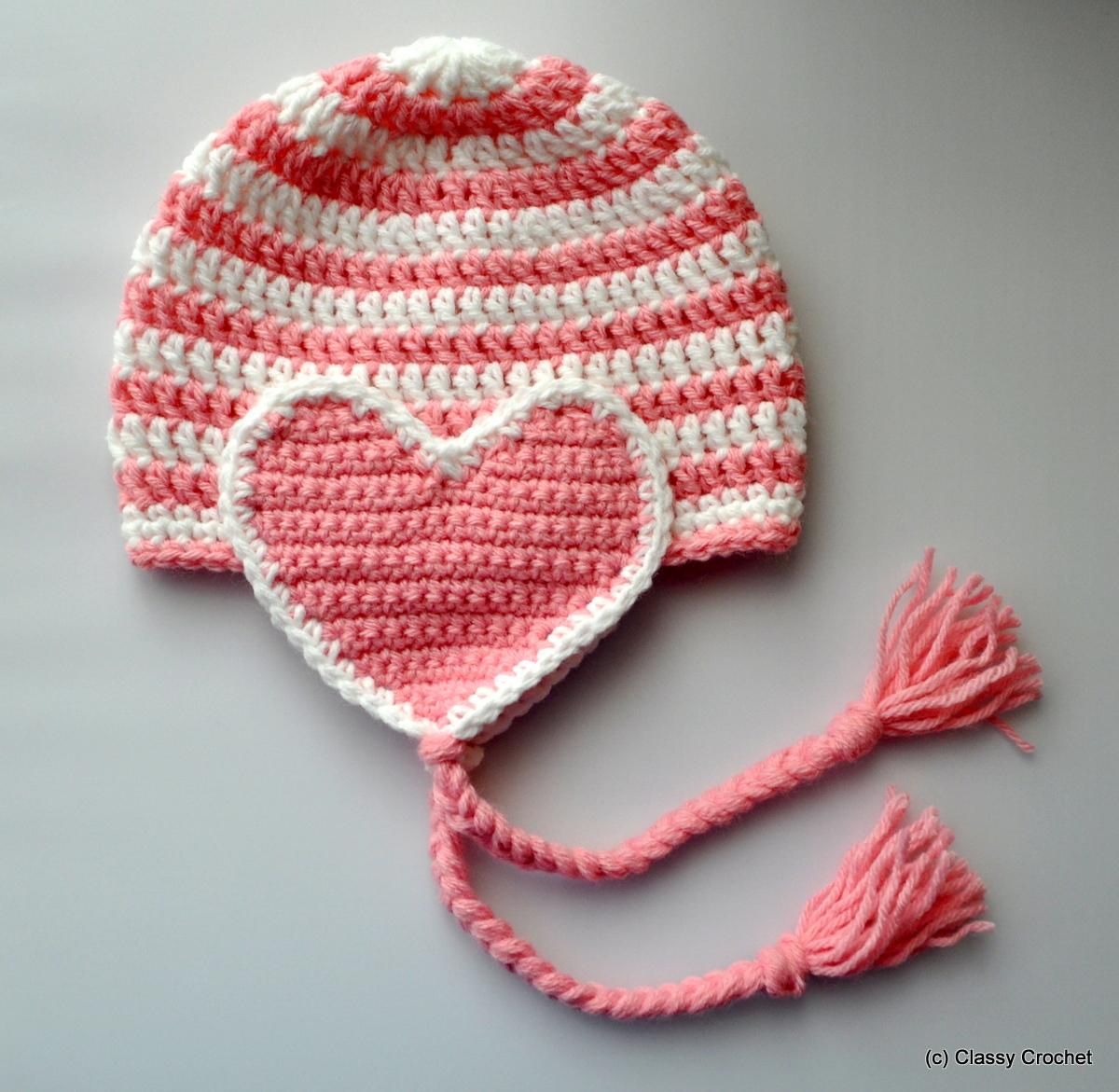 Free pattern crochet valentine heart earflap hat classy crochet free pattern crochet valentine earflap hat classy crochet dt1010fo