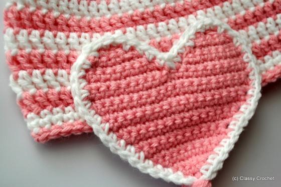 Free Pattern: Crochet Valentine Earflap Hat | Classy Crochet