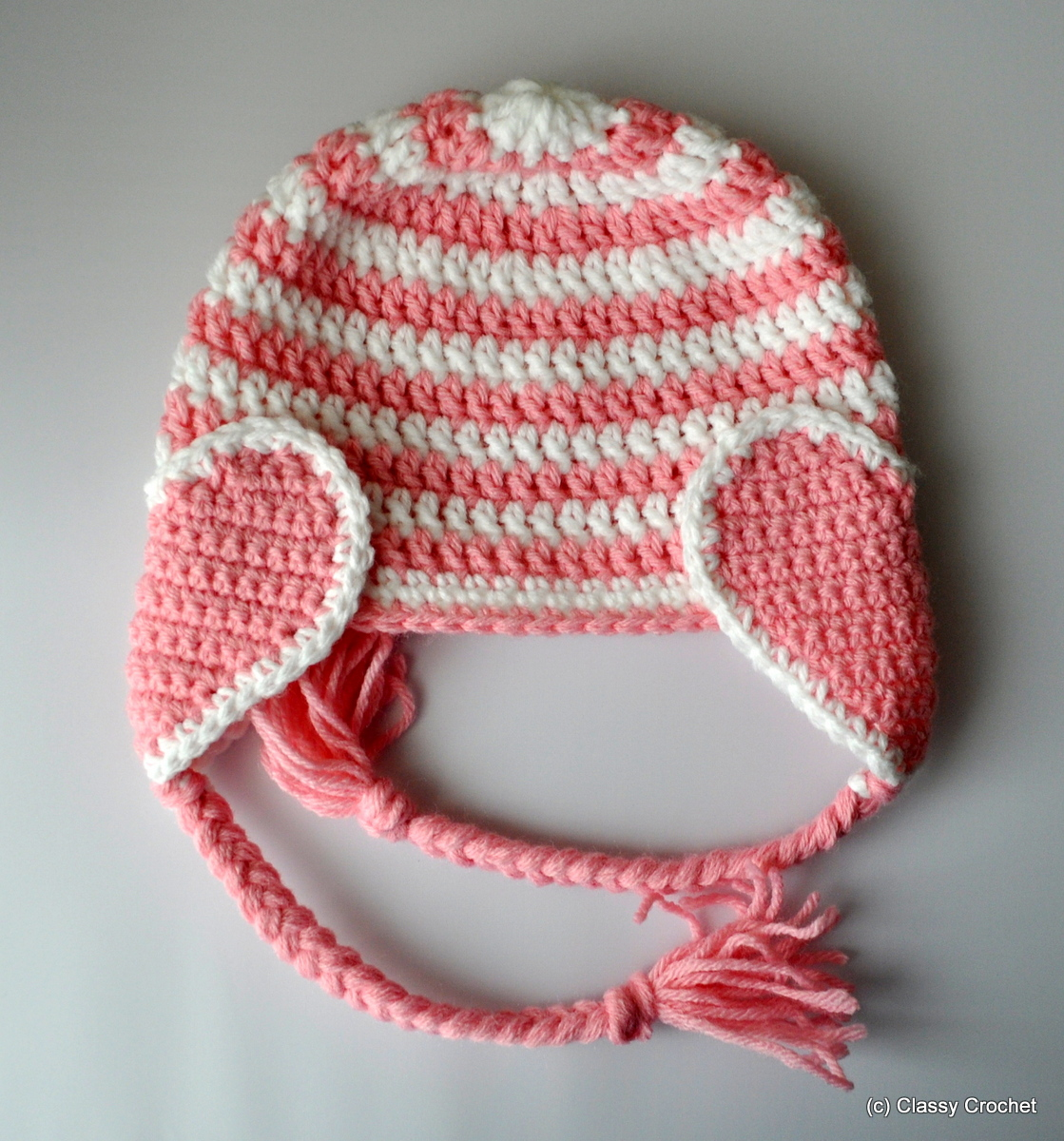 Free pattern crochet valentine heart earflap hat classy crochet free pattern crochet valentine earflap hat classy crochet bankloansurffo Images