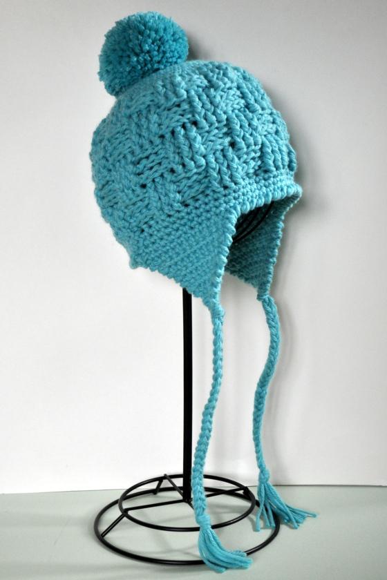 Classy Crochet | Basketweave Earflap Hat