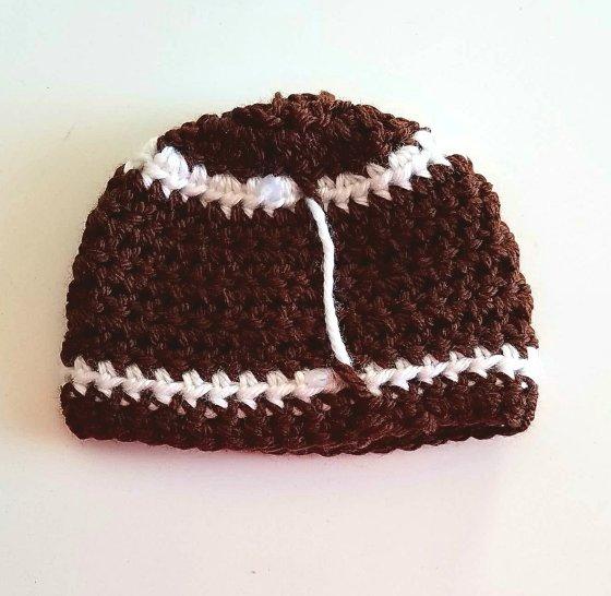 Preemie Crochet Baby Hats Day 2 The Football Classy Crochet