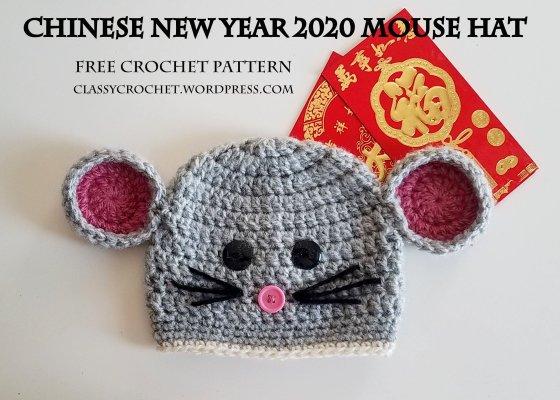 Classy Crochet | Free Crochet Mouse Hat Pattern